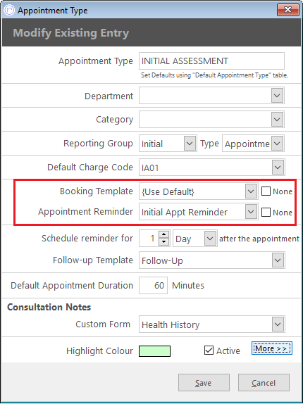 appointment booking confirmations and reminders pps