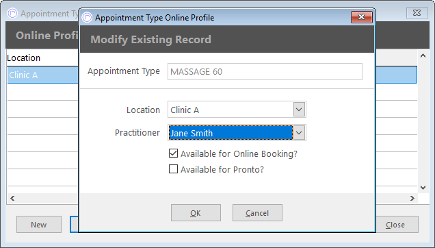 f4dd0feda4b6ff In this window you can select which locations this Appointment Type should  be available for online by selecting a location from the drop down menu.